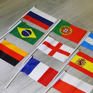2018 World Cup Theme Flag National Flag Hand Waving Flag Banner Flag 5pcs