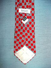 VINTAGE BALLY MENS SILK TIE MADE IN ITALY