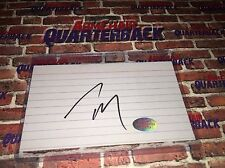 Tom Brady (Training Camp) autographed 3x5 Index Card New England Patriots GOAT