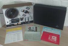 AKAI 4000D REEL 2 REEL STEREO TAPE DECK RECORDER - ORIGINAL DUST COVER + MANUALS