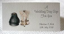 Handmade Personalised Money Wallet Gift Card, Wedding Engagement, Vow Renewal