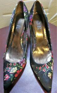 Floral print court shoes,'London Rebel' size 9