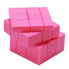 Pink Toy 3x3x3 Mirror Magic Cube Stickerless Variant Abnormity Cube Twist Puzzle