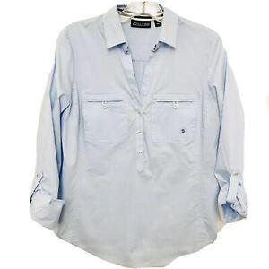 NWT's 7th Avenue Design Studio New York & Company Blue Button Shirt Career sz S