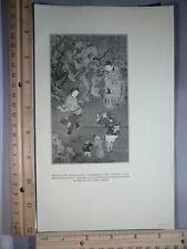 Rare Original VTG 1922 Strolling Musicians Ku Chien Lung Illustration Art Print