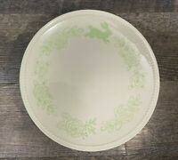 """1 Threshold Cream and Green Bunny Easter Dinner Plate Target Stoneware 10 5"""""""