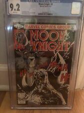 9.2 CGC Moon Knight 8 Werewolf Cover By Sienkiewicz 1981 CGC Graded