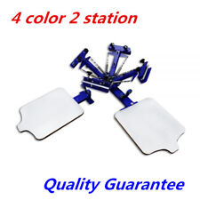 4 Color 2 Station Screen Printing Machine Press Equipment Screen Kit Printer