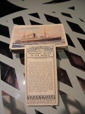 "WILLS' "" MERCHANT SHIPS OF THE WORLD  1924""   FULL SET  [t]"
