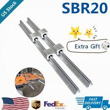 Sbr20 Linear Rail Guide 200mm 2200mm Slide Shaft Rod5x Sbr20uu Bearing Block Us