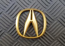 OEM Acura Body/Dash/Trunk Emblem. RARE Gold Color! 6.6cm