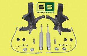 "4.5"" LIFT SPINDLES, 2 FR SHOCKS FITS 88-00 CHEVY C2500/C3500 2WD 8 LUG"