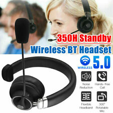 New listing Bluetooth Business Wireless Headset with Boom Mic for Cell Phone/Tablet/Computer