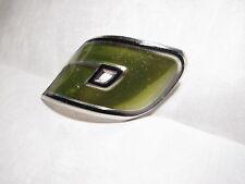 "NOS BMX DYNO ""D"" head tube badge  decal aluminum LIGHT GREEN"