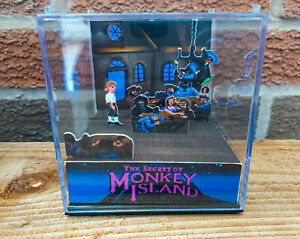The Secret of MONKEY ISLAND - Scumm Bar - 3D Game Cube Diorama
