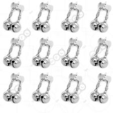 12pcs Fishing Jingle Double Bells Alert w/ Clamp Clips Bait Bite Loud Alarm @US