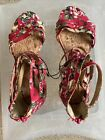 GEORGE MULTICOLOURED FLORAL STRAPPY SANDALS SZE 4 EUR 37 NEW NO BOX