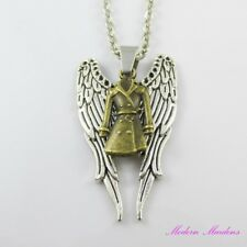 Supernatural Inspired Angel Castiel Bronze Charm Pendant Chain Necklace 45cm