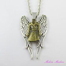 Supernatural Inspired Angel Castiel Charm Pendant Chain Necklace 45cm