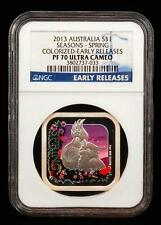 2013 Australia $1 Seasons - Spring PF 70 Ultra Cameo Early Releases