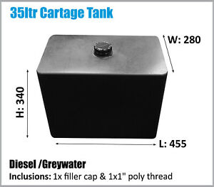 DIESEL TANK. 35LTR. 4x4 UTE TRAYBACK 4WD CAMPING POLYMATE. ASK FOR FREIGHT PRICE