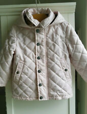 Burberry Baby Pink Quilted Jacket Hood Size 18 Month (32122A)