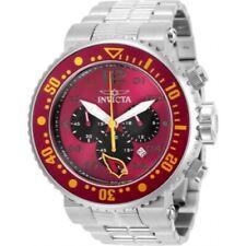 Invicta Men's 30255 NFL Arizona Cardinals Quartz Red, Black Dial Watch