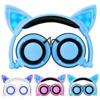 Foldable Cat Ear Overhead Childrens Kids Headphones Earphones for iPad iphone