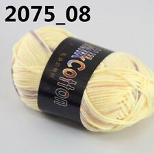 Sale 1ballx50g Soft Cotton Baby Yarn New Hand-dyed Wool Socks Scarf Knitting