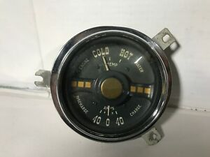 1950 PLYMOUTH TEMPERATURE & AMMETER INSTRUMENT CLUSTER 50