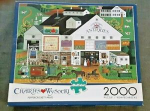 Charles Wysocki 2000 Piece Puzzle Peppercricket Farms Complete Americana Sheet