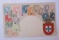 Postage Stamps, Briefmarkensprache, Portugal, 1900, Embossed Postcard (66725)