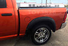 FENDER FLARES POCKET RIVET BOLT STYLE FOR 2009-2014 DODGE RAM 1500 BIG HORN