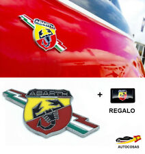 3D Chrome Pegatina Abarth Etiqueta para Fiat  + Regalo