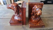 Vintage Man's Best Friend Bird Dog Bookends 6.25""