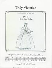 Schnittmuster Truly Victorian TV 447: 1863 Sheer Dress