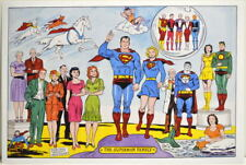 SUPERMAN FAMILY PRINT w Supergirl, Krypto Legion Superheroes Bizarro Super Pets