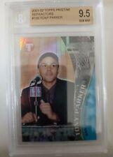 2001-02 Tony Parker topps Pristine Rookie Refractor #108 BGS 9.5 GEM MINT
