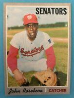 1970 Topps Card #655 John Roseboro  - Washington Senators
