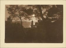France, San Salvadour (Hyères, Var), Le Beffroi dans le coucher du soleil  Vinta