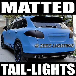 Black-Out Matte Taillight Tint Smoked Head Fog Tail Light Vinyl Tinted Film C90