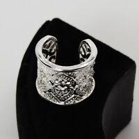 Edelstahl Ring  Modeschmuck Luxus Herz Strass in der Farbe Silber
