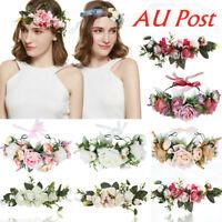 Wedding Adjustable Boho Bridal Flower Crown Headband Garland Beach Hairband Hot