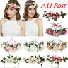 Wedding Adjustable Boho Bridal Flower Crown Headband Garland Beach Hairband Hot