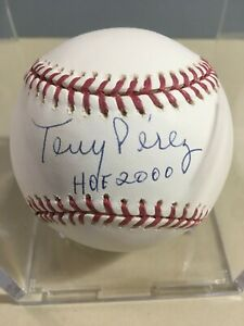 Tony Perez Autographed Baseball Tristar Authenticated Hall Of Fame Reds 1st Base
