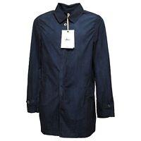 1092N trench uomo HEVO' blu jacket coat men