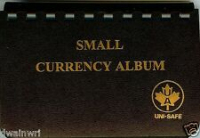 """Unisafe Currency Album - for Small Bills 3½""""x6"""""""