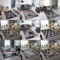 Modern Rug Teal Beige Small Large Living Room Rugs Bedroom Cheap Carpet  Rugs
