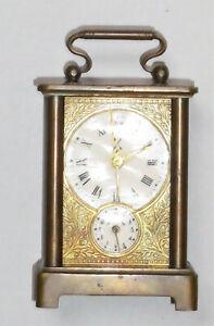 antike Tischuhr mit Wecker Lenzkirch Pfeilkreuz 1903 HK gemarkt Messing?