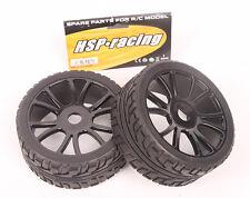 Lot 4 PCS 17mm Hub Wheel Rim & Tires HSP 1:8 Off-Road RC Car Buggy 180043 Black